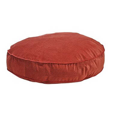 """Super Soft Round Dog Pillow Size: Small - 24"""" L x 24"""" W, Color: Cherry"""