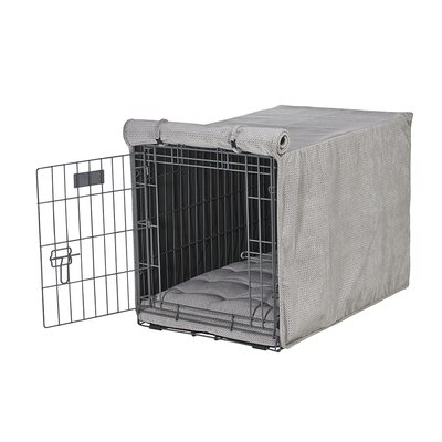 """Luxury Crate Cover Color: Silver, Size: Medium (21"""" H x 19"""" W x 30"""" L)"""