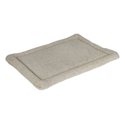 "Berber Dog Mat Size: Extra Small (20"" L x 15"" W), Color: Oatmeal"