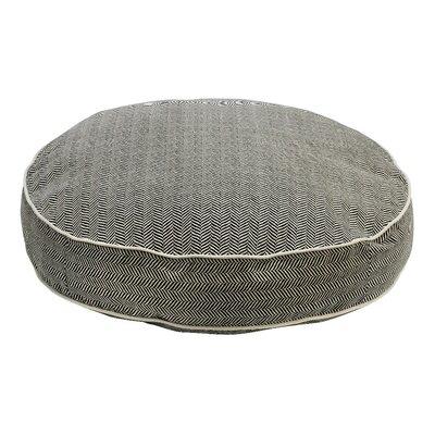 "Super Soft Round Dog Pillow Size: Medium (36"" L x 36"" W), Color: Herringbone"