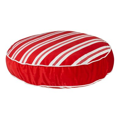 """Super Soft Round Dog Pillow Size: Small (28"""" L x 28"""" W), Color: Peppermint Stripe"""