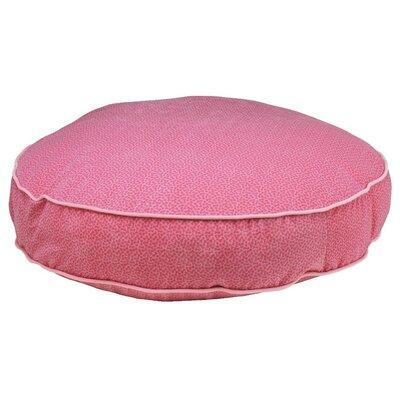 """Super Soft Round Dog Pillow Size: Large (44"""" L x 44"""" W), Color: Flamingo Bones"""