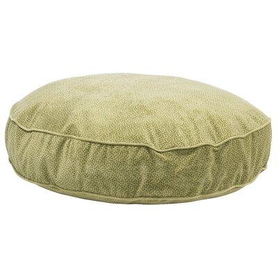"Super Soft Round Dog Pillow Size: Small (28"" L x 28"" W), Color: Green Apple Bones"