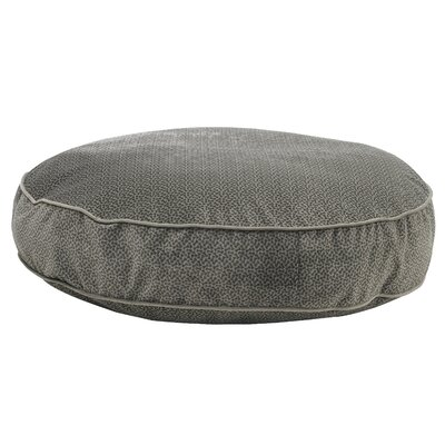 """Super Soft Round Dog Pillow Size: Small (28"""" L x 28"""" W), Color: Pewter Bones"""