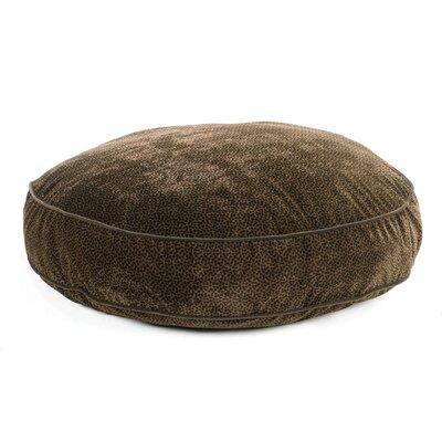 "Super Soft Round Dog Pillow Size: Small (28"" L x 28"" W), Color: Chocolate Bones"
