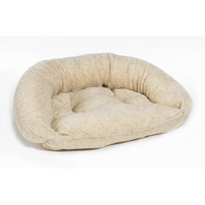 "Reversible Lounger Bolster Dog Bed Size: Medium (33"" L x 22"" W), Color: Oatmeal"