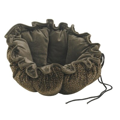 "Buttercup Nest Dog Bed Size: Small (24"" L x 24"" W), Color: Chocolate Bones"