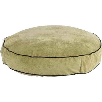 """Super Soft Round Dog Pillow Size: Small (28"""" L x 28"""" W), Color: Celery"""