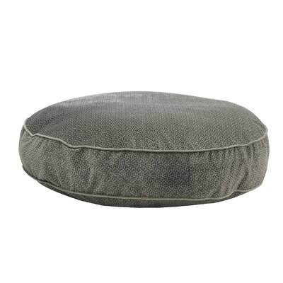 """Super Soft Round Dog Pillow Size: Small - 24"""" L x 24"""" W, Color: Pewter"""