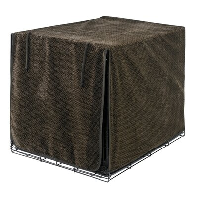 "Luxury Dog Crate Cover Size: Small (19"" H x 18"" W x 24"" D), Color: Choc Bones (Esp)"