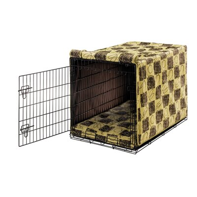 "Luxury Dog Crate Cover Size: Medium (21"" H x 19"" W x 30"" D)"