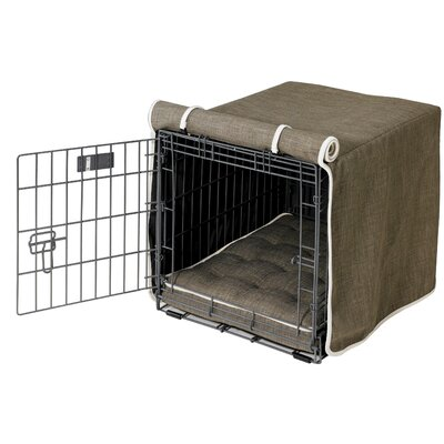 "Luxury Dog Crate Cover Size: X-Large (30"" H x 28"" W x 42"" D)"