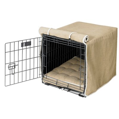 "Luxury Dog Crate Cover I Size: Small (19"" H x 18"" W x 24"" D)"