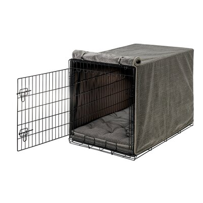 "Luxury Dog Crate Cover Size: Medium (21"" H x 19"" W x 30"" D)"