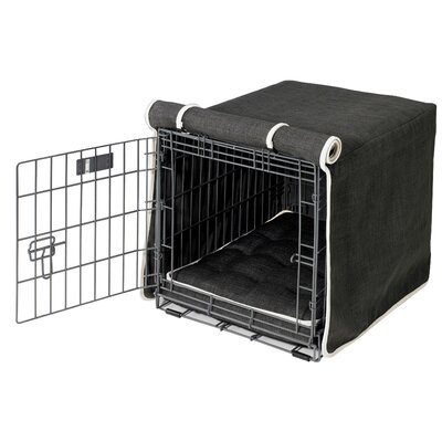 "Luxury Dog Crate Cover Size: XX-Large (33"" H x 30"" W x 48"" D)"