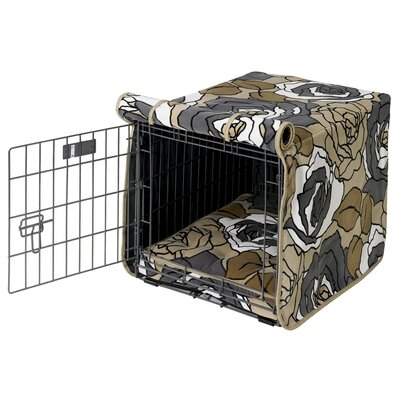 "Luxury Dog Crate Cover Size: Small (19"" H x 18"" W x 24"" D)"
