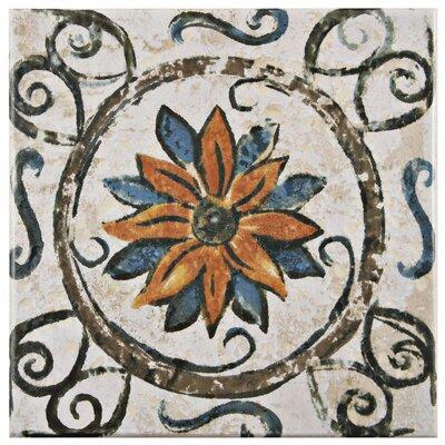 """Romana 7.75"""" x 7.75"""" Ceramic Field Tile in Brown"""