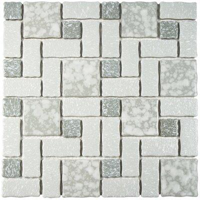 "Pallas Random Sized 11.75"" x 11.75"" Porcelain Mosaic Tile in Gray"