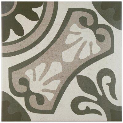 "Serdi 13"" x 13"" Ceramic Field Tile in Beige/Gray"