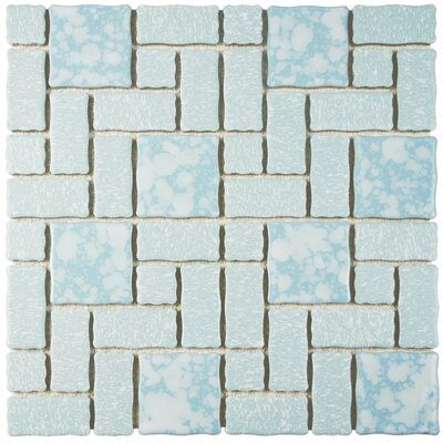 Academy Random Sized Porcelain Mosaic Tile in Blue