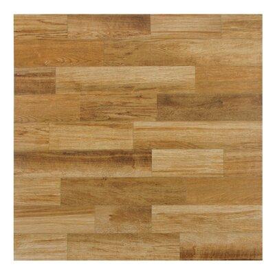"""Prospero 17.75"""" x 17.75"""" Ceramic Wood Tile in Brown"""