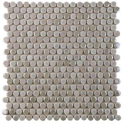 "Tucana 0.59"" x 0.59"" Porcelain Mosaic Tile in Ash"