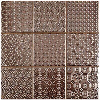 "Vigor 3.88"" x 3.88"" Porcelain Mosaic Tile in Copper"
