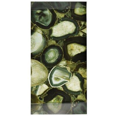 """Archaea 11.75"""" x 23.75"""" Glass Field Tile in Verde/Black"""