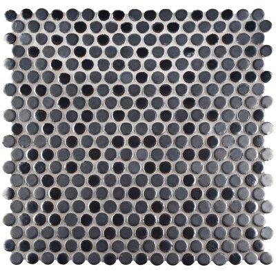 "Astraea 0.62"" x 0.62"" Porcelain Mosaic Tile in Silver"
