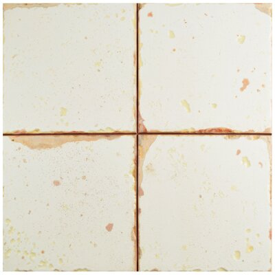 "Artisanal 13"" x 13"" Ceramic Field Tile"