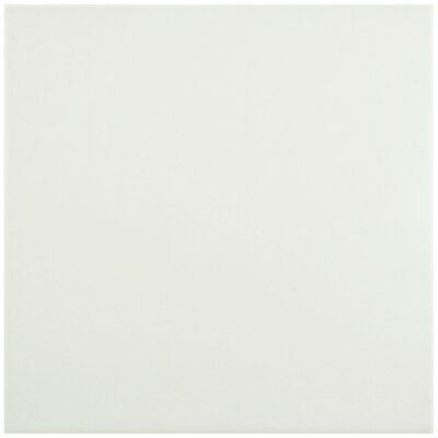 "Hydraulic 9.75"" x 9.75"" Porcelain Tile in Blanco"