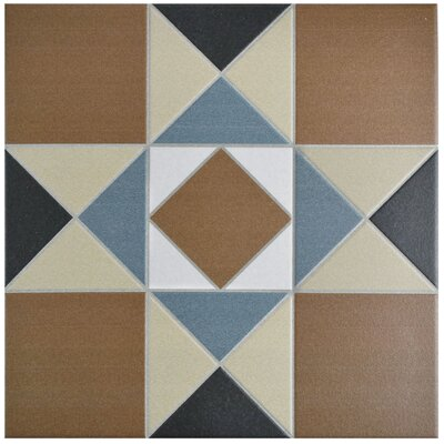 "Narcisso 13"" x 13"" Porcelain Field Tile in Cotto/Tan"