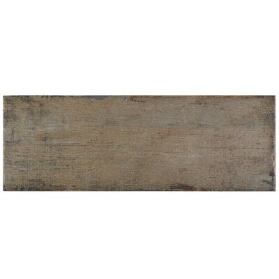 "Rama 8.25"" x 23.5"" Porcelain Wood Look/Field Tile in Brown"