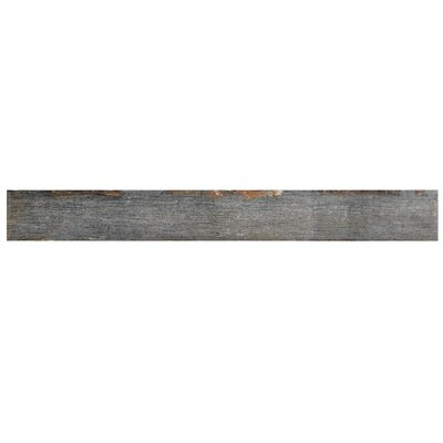 "Rama 2.75"" x 23.5"" Porcelain Wood Look/Field Tile in Gray"