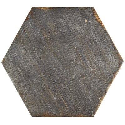 "Rama Hexagon 14.13"" x 16.25"" Porcelain Mosaic Tile in Gray"
