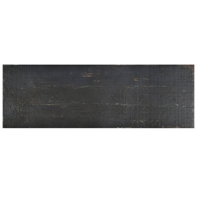 "Rama 8.25"" x 23.5"" Porcelain Wood Look/Field Tile in Black"