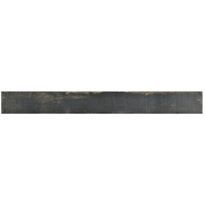 "Rama 2.75"" x 23.5"" Porcelain Wood Look/Field Tile in Black"