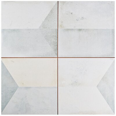 "Geamenti 17.58"" x 17.58"" Ceramic Field Tile in Beige/Gray"