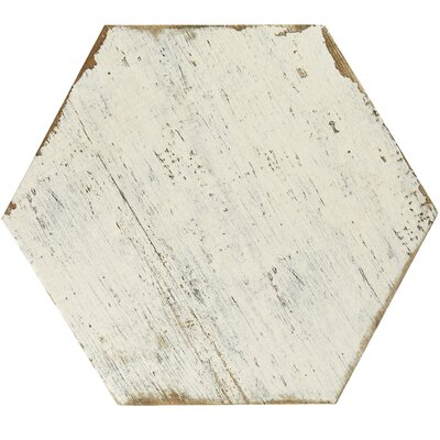 "Rama 14.13"" x 16.25"" Porcelain Field Tile in White"