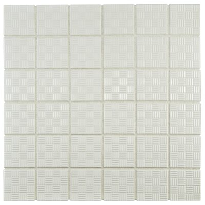"Passero 1.75"" x 1.75"" Porcelain Mosaic Tile in White"