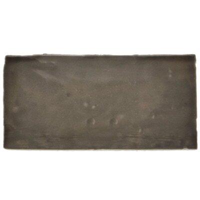 "Tivoli 3"" x 6"" Ceramic Subway Tile in Graphite Gray"