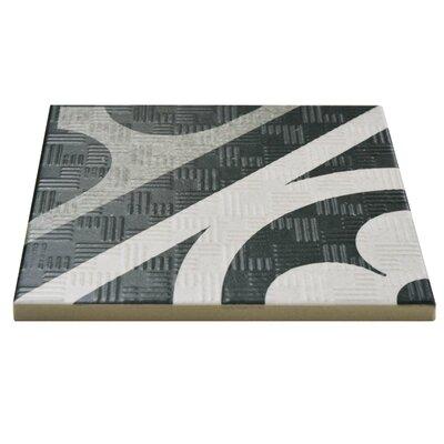 "Region 6"" x 6"" Porcelain Field Tile in Black/White"