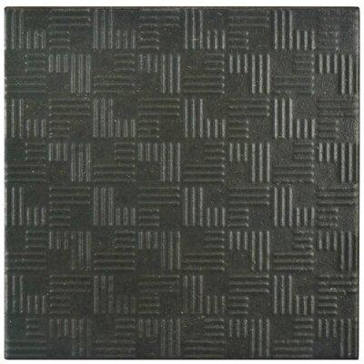 """Region 6"""" x 6"""" Porcelain Field Tile in Black"""