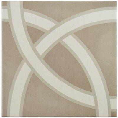 """Grotta 7.88"""" x 7.88"""" Porcelain Field Tile in Brown/Beige"""