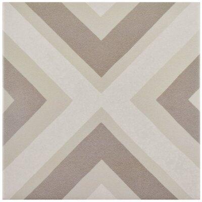 "Grotta 7.88"" x 7.88"" Porcelain Field Tile in Taupe/Beige"