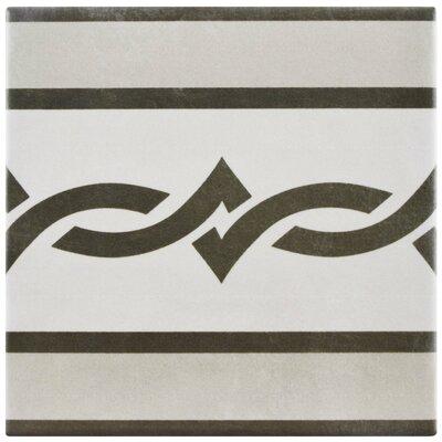 """Haute 5.88"""" x 5.88"""" Ceramic Field Tile in Gray/Black"""