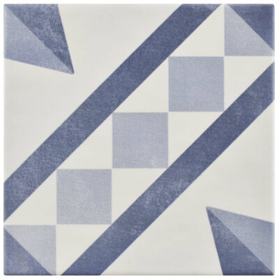 "Haute 5.88"" x 5.88"" Ceramic Field Tile in Blue"