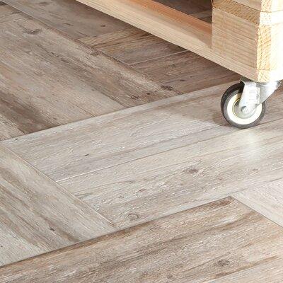 """Alcazar 7.88"""" x 23.63"""" Ceramic Wood Look Tile in Matte Beige"""
