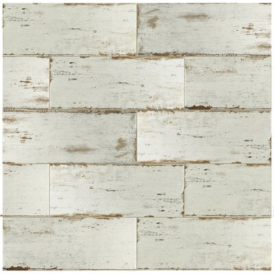 "Rama 8.25"" x 23.5"" Porcelain Wood Look/Field Tile in White"