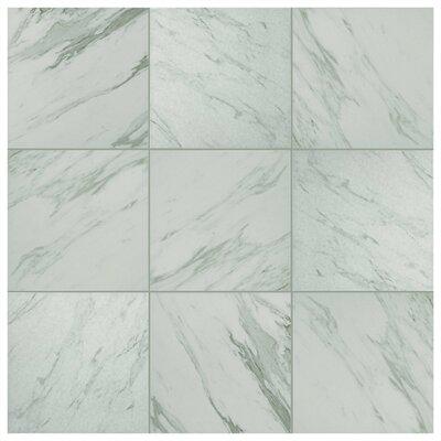 "Marbre Carrara 9.75"" x 9.75"" Porcelain Field Tile in Gray/White"